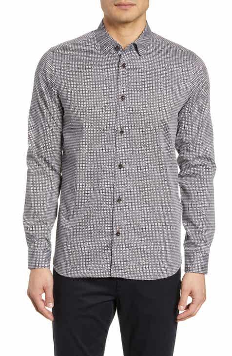 9a970105a Ted Baker London Berdie Slim Fit Geometric Print Sport Shirt