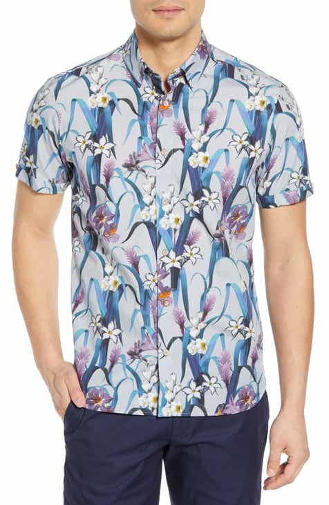 85c4411a04bf2 Ted Baker London Sharky Slim Fit Sport Shirt
