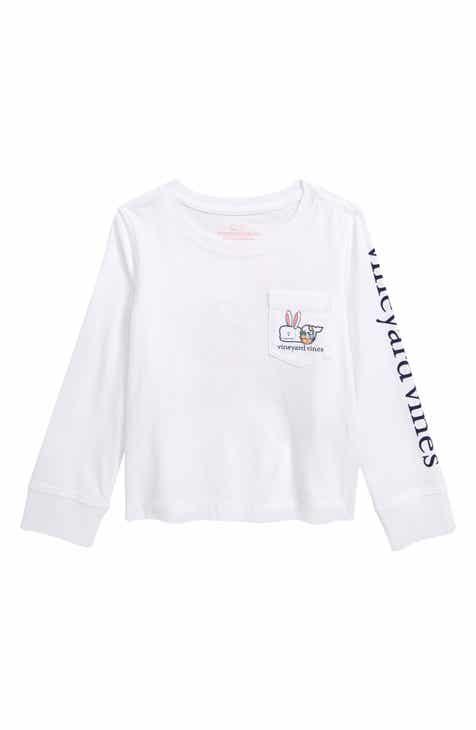 520c3f53f2c2 vineyard vines Happy Easter Whale Pocket Tee (Toddler Girls)