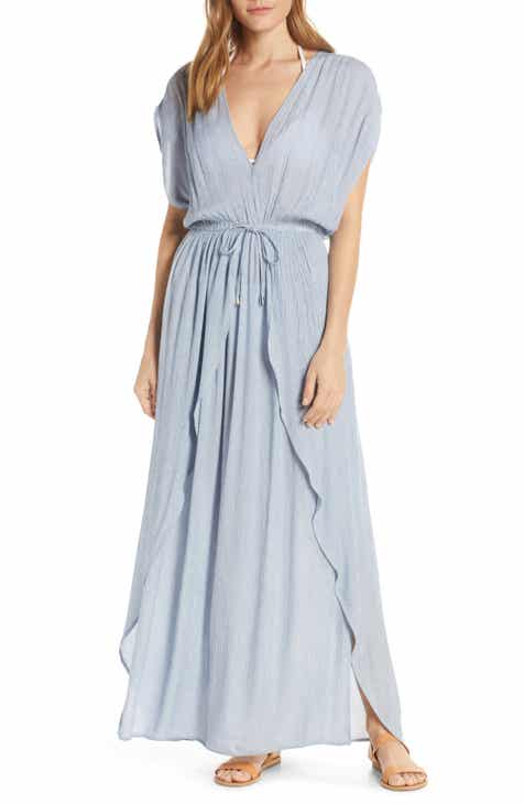 fe76c337a10 Elan Deep V-Neck Cover-Up Maxi Dress
