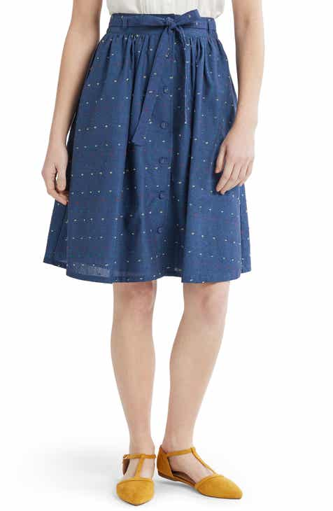 895f963c5f20 ModCloth Button Front A-Line Skirt (Regular & Plus Size)
