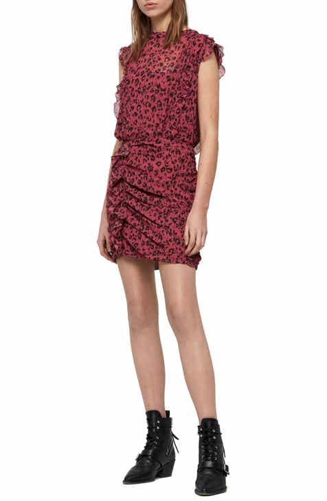 ALLSAINTS Hali Roar Animal Print Minidress by ALLSAINTS