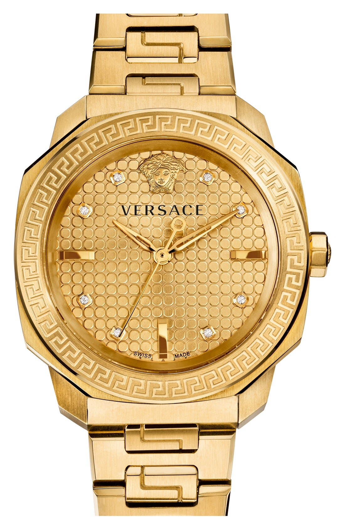 Alternate Image 1 Selected - Versace 'Dylos' Bracelet Watch, 35mm