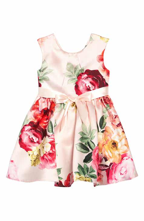 4e300059558 Zunie Placed Floral Print Dress (Toddler Girls