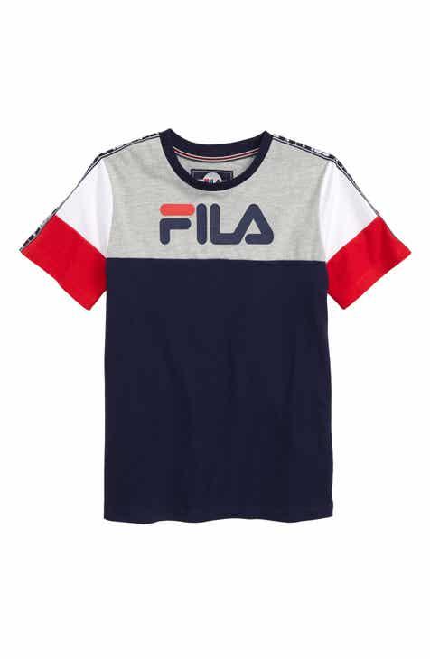 f442e3ba8cb5 FILA Colorblock Tape Logo T-Shirt (Little Boys   Big Boys)