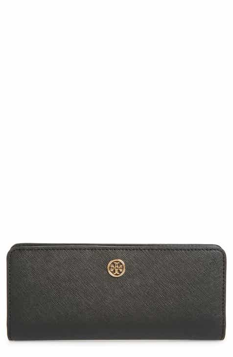 97a4f5eaf7a Tory Burch Robinson Slim Leather Wallet