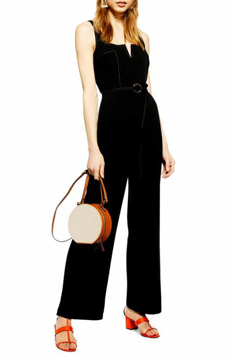 Topshop Hexagon Trim Jumpsuit by TOPSHOP