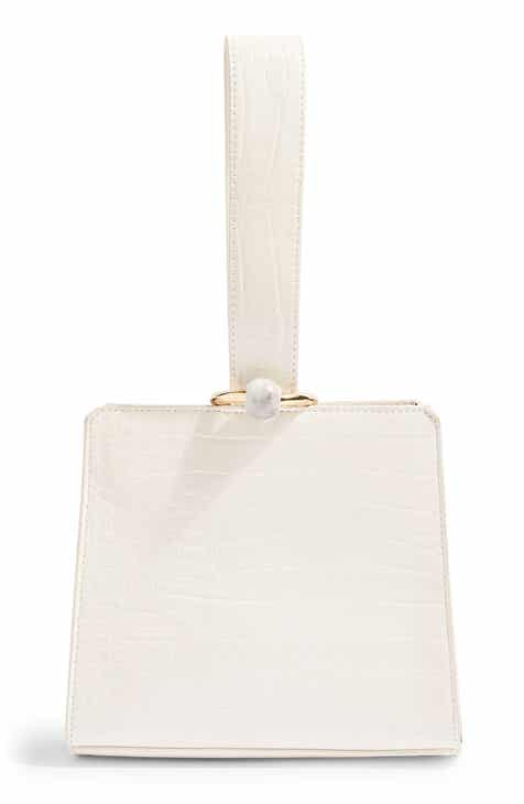 Topshop Swish Croc-Embossed Faux Leather Bag