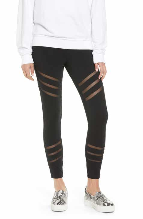 Lyssé Stripe Mesh Inset Leggings by LYSSE