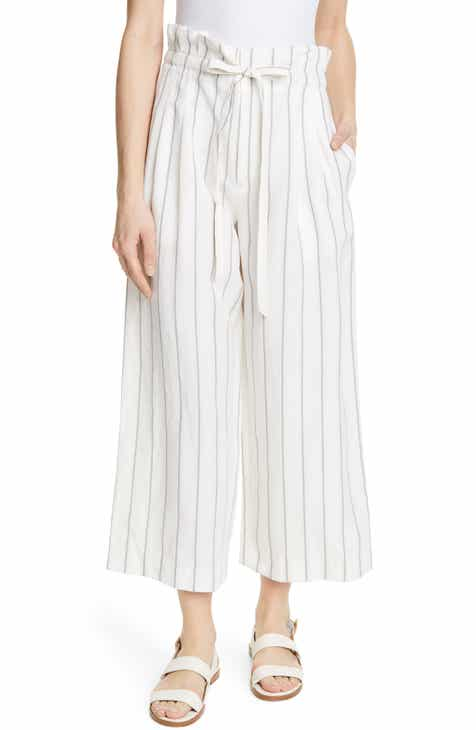 Club Monaco Anreannah Stripe Wide Leg Linen Blend Pants by CLUB MONACO