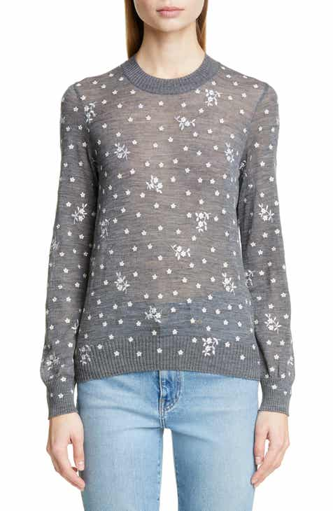 76eb2137896e Tricot Comme des Garçons Embroidered Flower Sweater