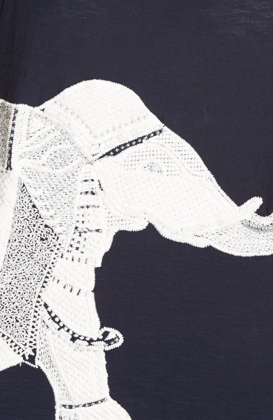 Alternate Image 3  - Lucky Brand Embroidered Elephant Tank