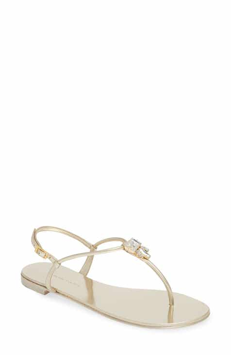 4edb571340d6 Giuseppe Zanotti Crystal Embellished Thong Sandal (Women)