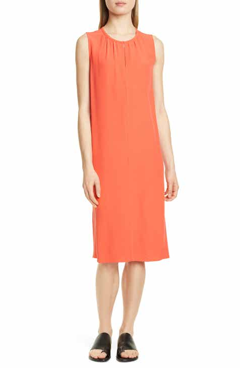 9b44072feee Eileen Fisher Silk Shift Dress (Regular   Petite)