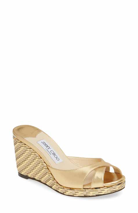 dd80a2c605b7c Jimmy Choo Almer Textured Wedge Sandal (Women) Jimmy Choo Almer Cork Wedge  Sandal (Women)