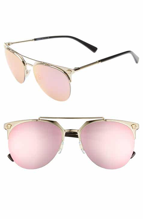 0ded8ccd18 Versace 57mm Mirrored Semi-Rimless Sunglasses