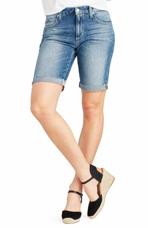Levi's® Wedgie Raw Hem High Waist Straight Leg Jeans (Love Triangle) by LEVIS