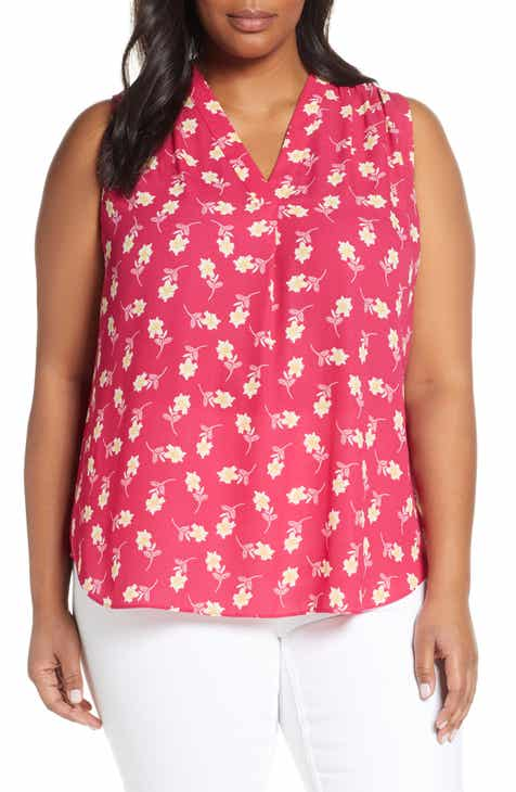 915ad248ab Vince Camuto Floral Getaway Top (Plus Size)