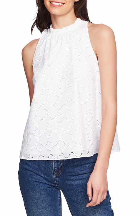 367dc71308 STATE Sleeveless Cotton Eyelet Top