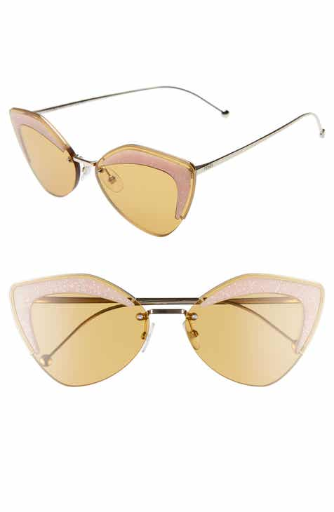 63b1169a3f3 Fendi 66mm Oversize Cat Eye Sunglasses