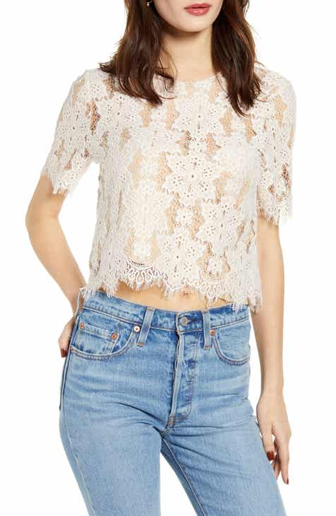 57cffa736db Women's Lace Tops | Nordstrom