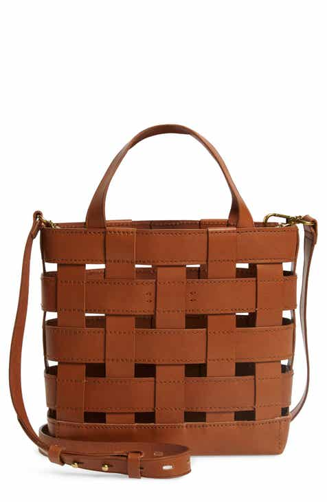 d88833d5816d Madewell Small Transport Basketweave Leather Crossbody Bag