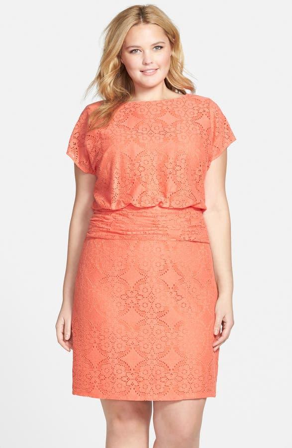 Adrianna Papell Medallion Lace Blouson Dress Plus Size Nordstrom