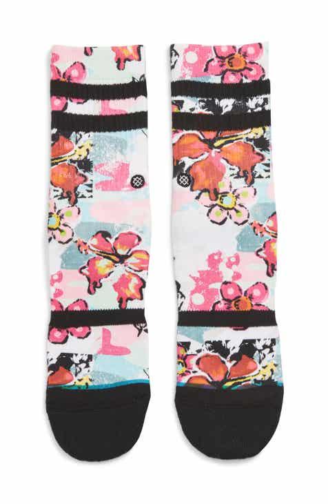 c4bdd4695f Stance Spot Floral Crew Socks (Little Kid   Big Kid)