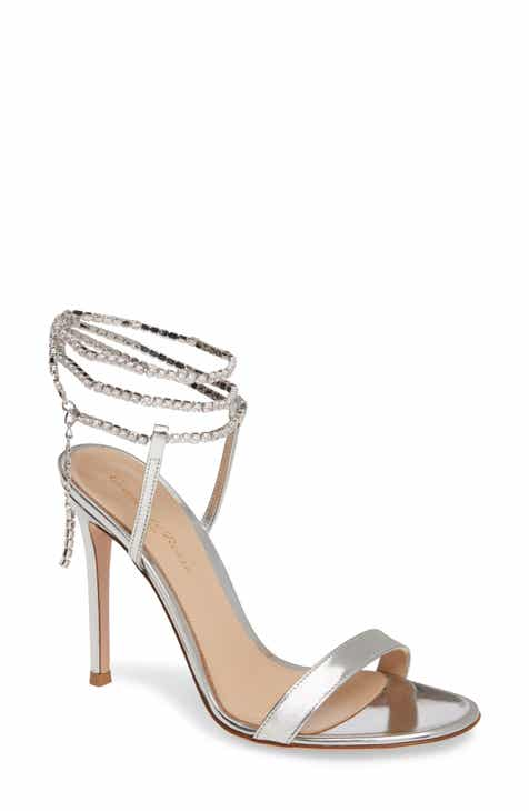 be01f7868e Gianvito Rossi Serena Crystal Ankle Wrap Sandal (Women)