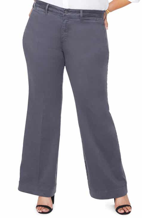 Vince Camuto Stretch Twill Seamed Pants (Plus Size) by VINCE CAMUTO