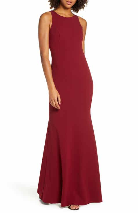 4671b4456e3 Lulus Strappy Back Crepe Mermaid Evening Gown