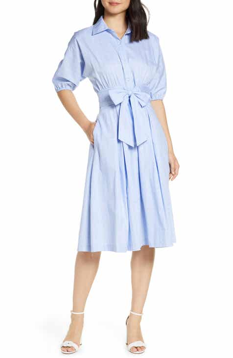 Eliza J Short Sleeve Shirt Dress