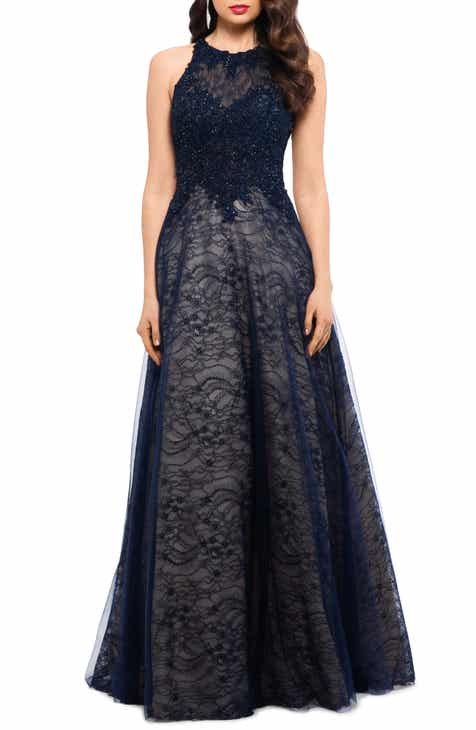 7adf20a05ae Xscape Sparkling Lace Evening Dress