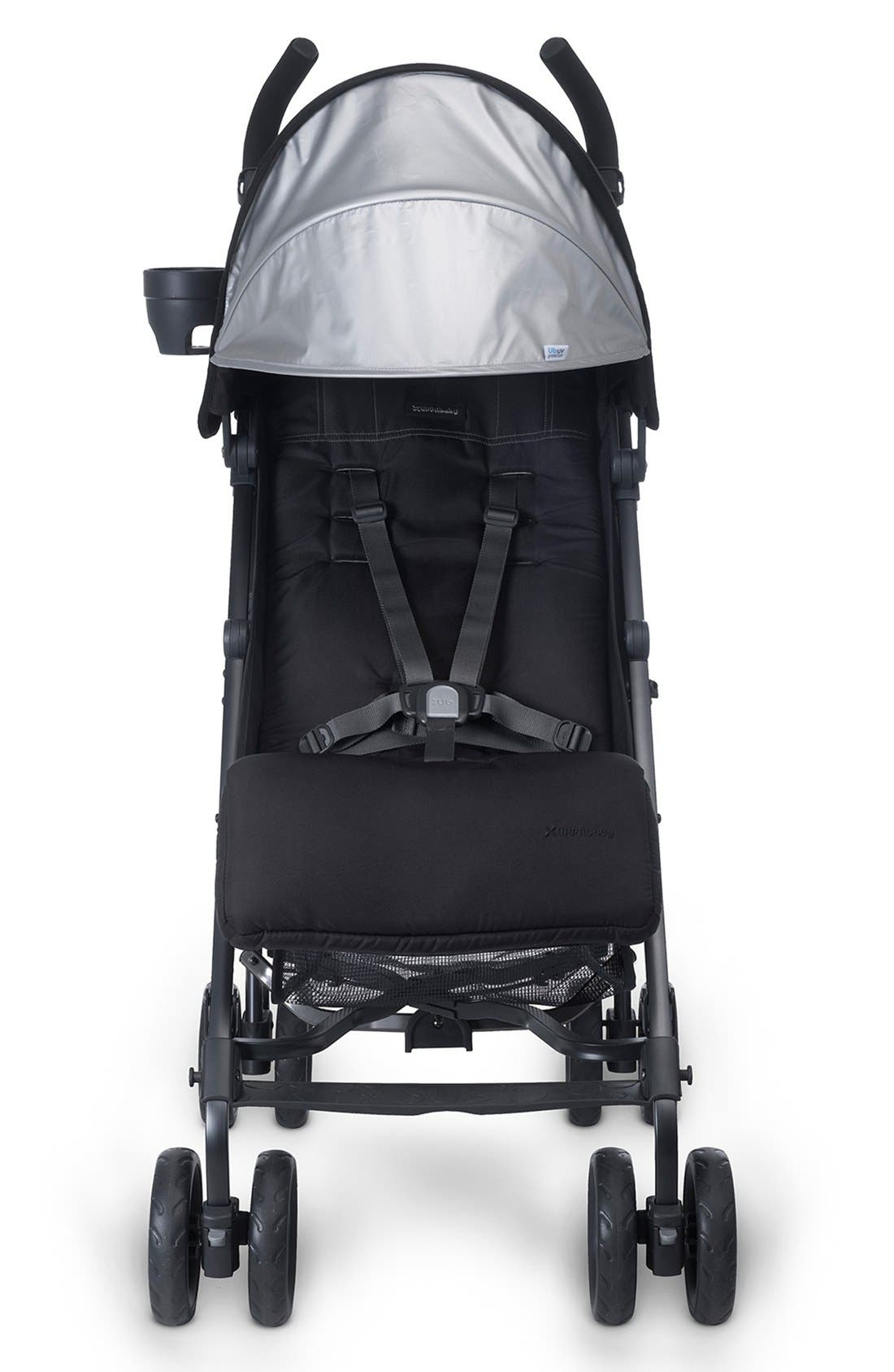G-LUXE - Black Frame Reclining Umbrella Stroller,                             Alternate thumbnail 7, color,                             Jake Black/ Carbon