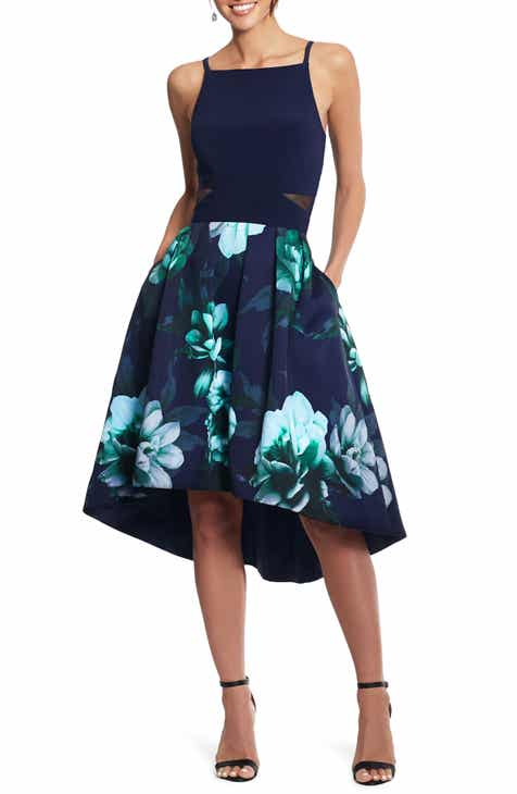f3b45c802d28 Xscape Floral High/Low Cocktail Dress