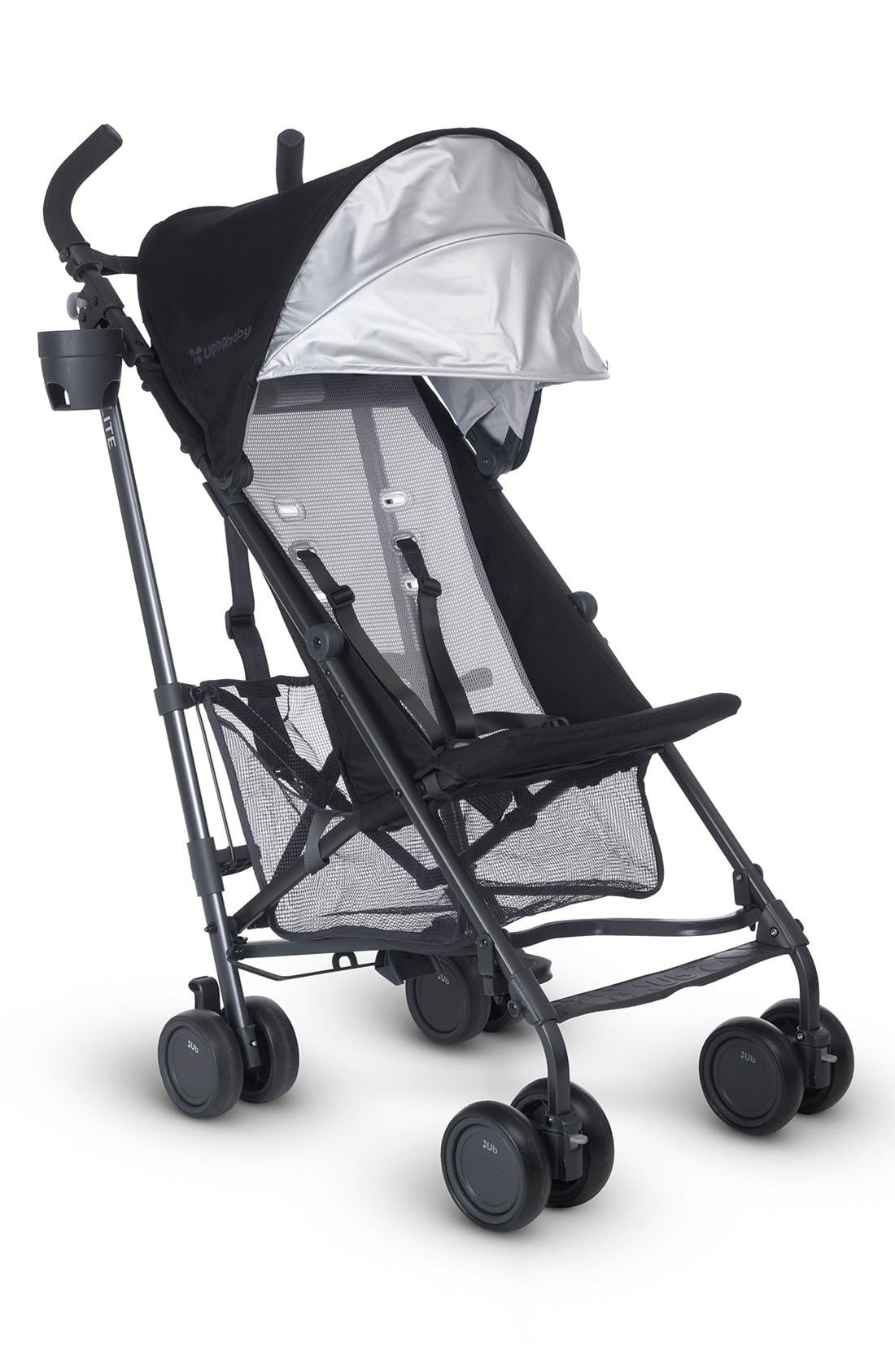 G-LITE - Black Frame Stroller,                             Alternate thumbnail 2, color,                             Jake Black/ Carbon