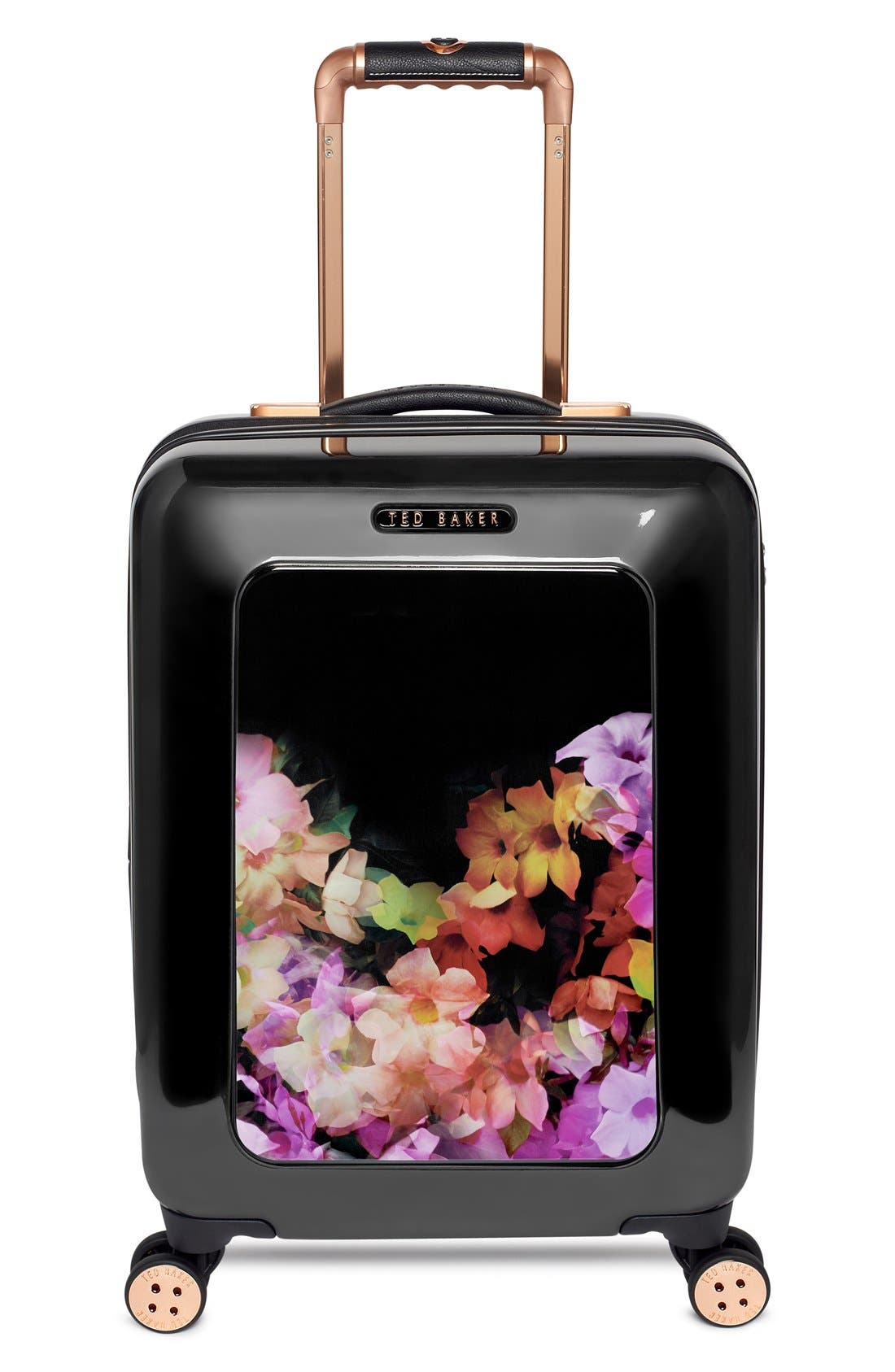 Main Image - Ted Baker London 'Small Cascade Floral' Hard Shell Suitcase (22 Inch)