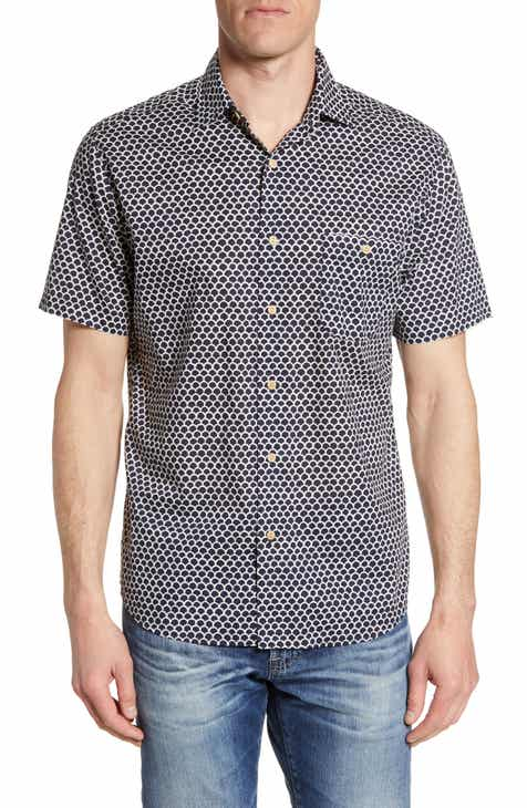 4b341a94 Faherty Coast Batik Short Sleeve Button-Up Sport Shirt