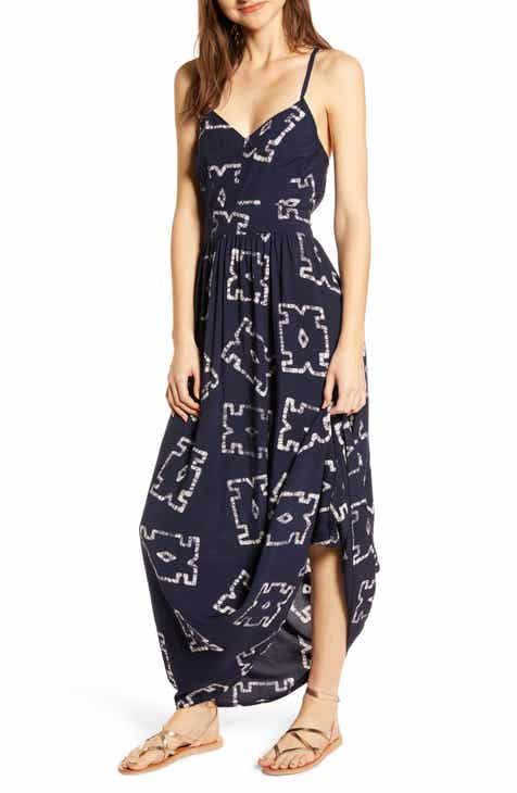 THE ODELLS Miro Bareback Batik Maxi Dress