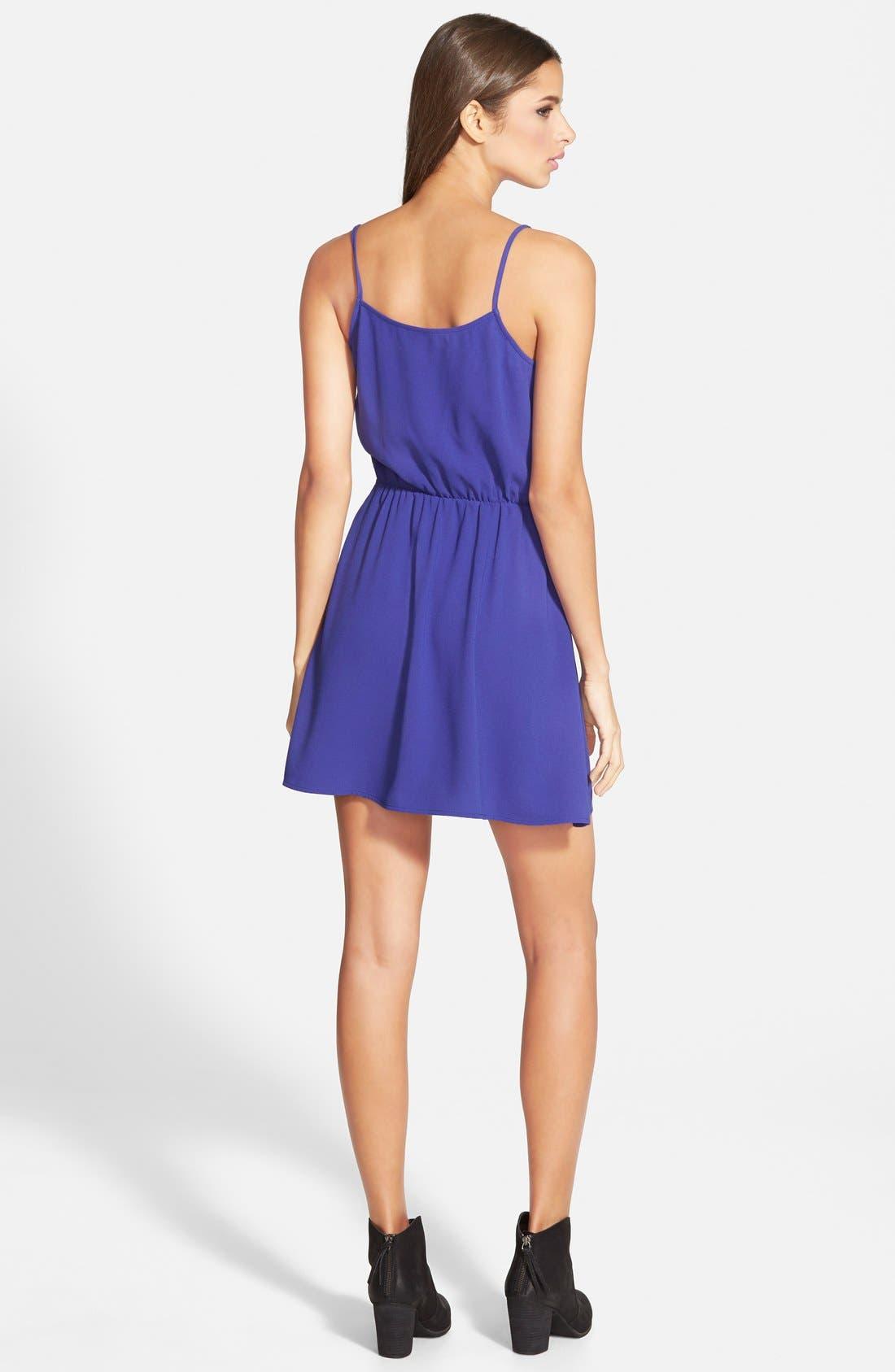 Wrap Front Dress,                             Alternate thumbnail 2, color,                             Blue Spectrum