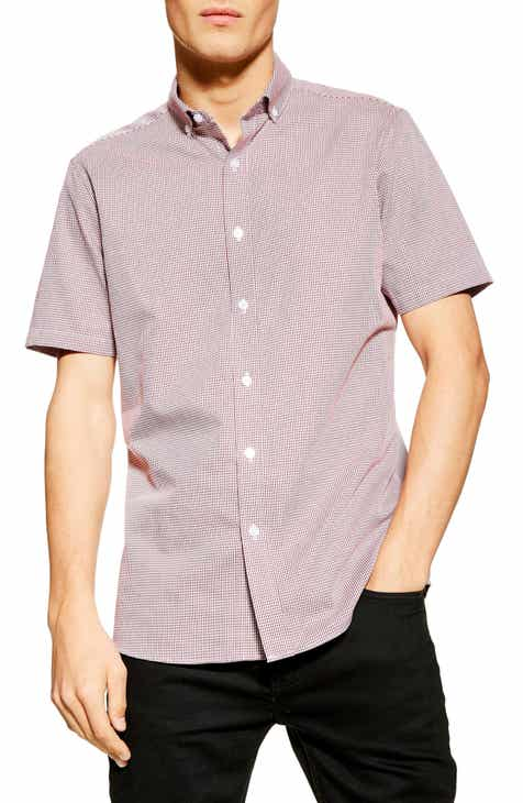 893b79ceebc4 Topman Slim Fit Print Button-Up Sport Shirt