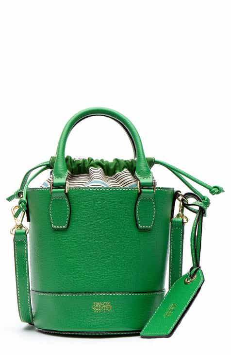 0d35b95f3 Frances Valentine Small Boarskin Leather Buckle Crossbody Bag. $248.00.  Product Image. BOTTLE GREEN