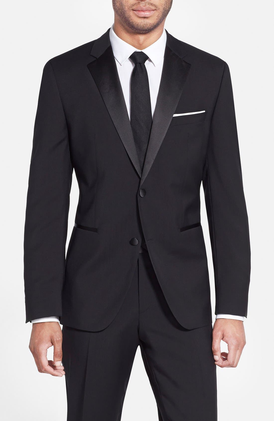Alternate Image 3  - BOSS The Stars/Glamour Trim Fit Wool Tuxedo