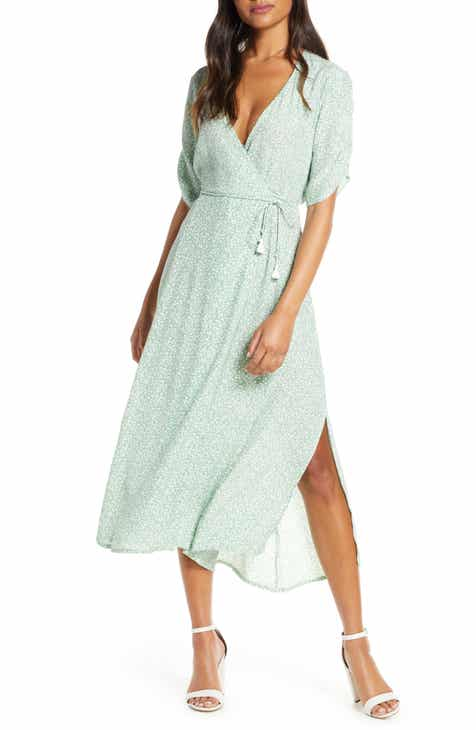 WAYF The Allison Faux Wrap Gown by WAYF