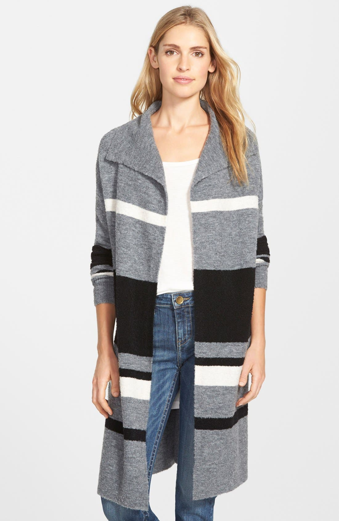 Caslon® Stripe Sweater Coat (Regular & Petite) | Nordstrom