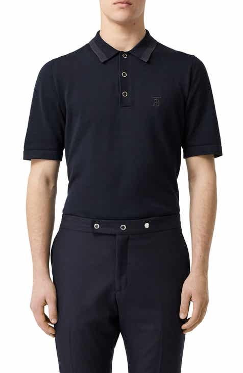 b56152406 Burberry Snap Short Sleeve Jersey Polo.  490.00. Product Image