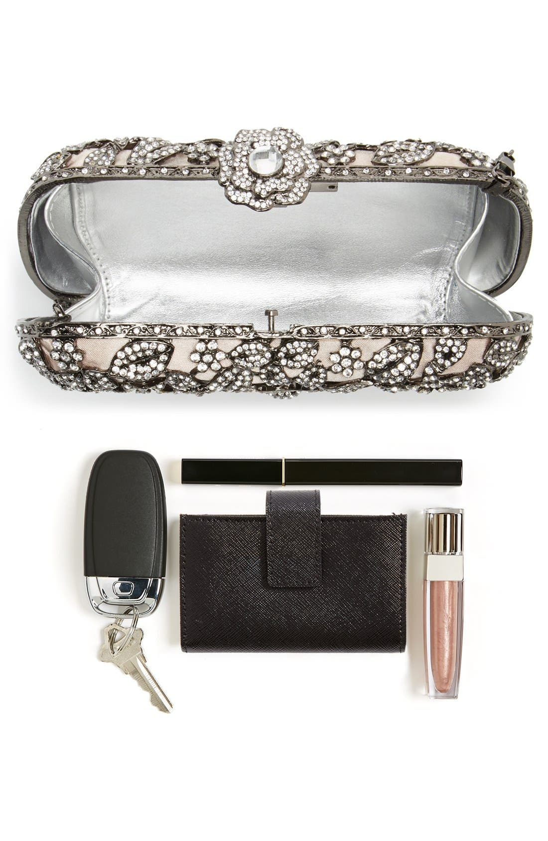 Alternate Image 7  - Natasha Couture Crystal Caged Floral Clutch