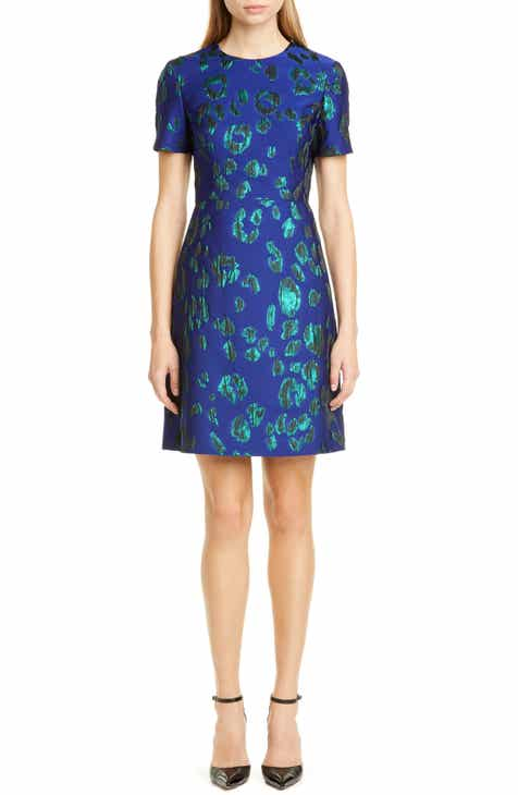 Jason Wu Collection Leopard Satin Jacquard Sheath Dress