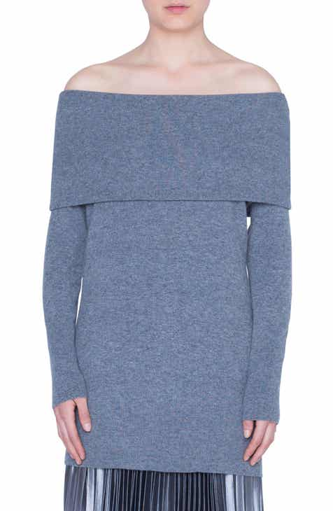 17a9eb9e4 Akris punto Off the Shoulder Wool & Cashmere Pullover