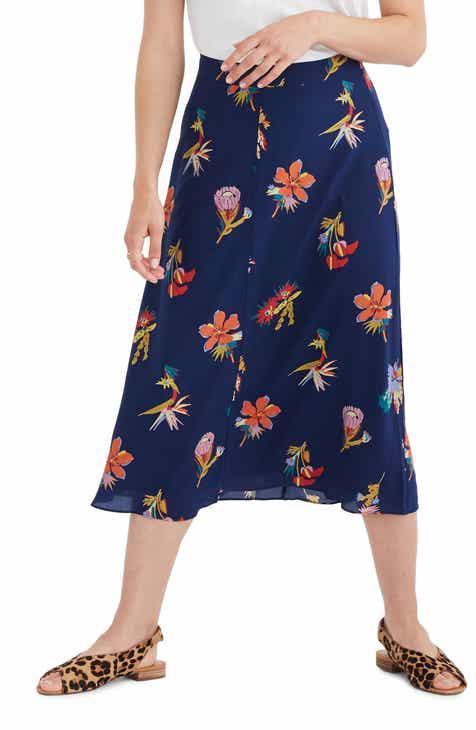 d342bcb2af Madewell Bird of Paradise Atrium Silk Midi Skirt